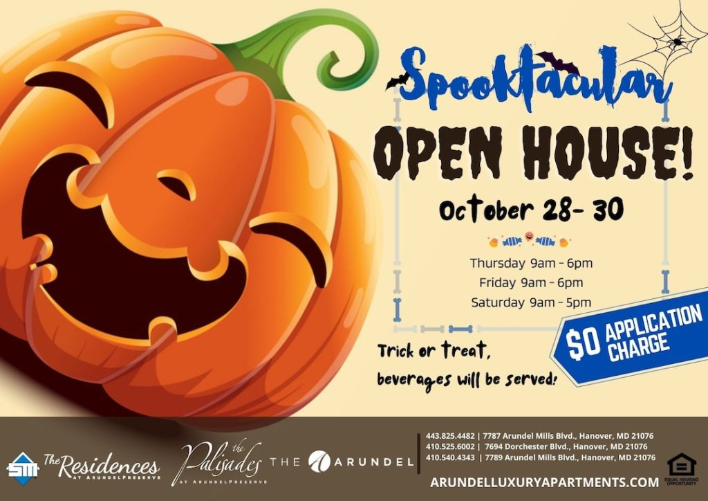 Open House October 28th-30th $0 Application Fee, Use Promo Code: GHOST