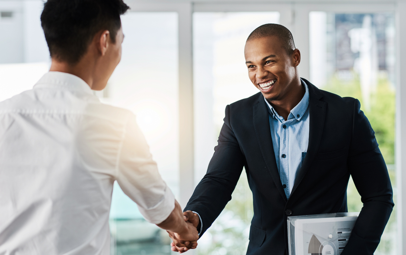 young man interviewing for a job