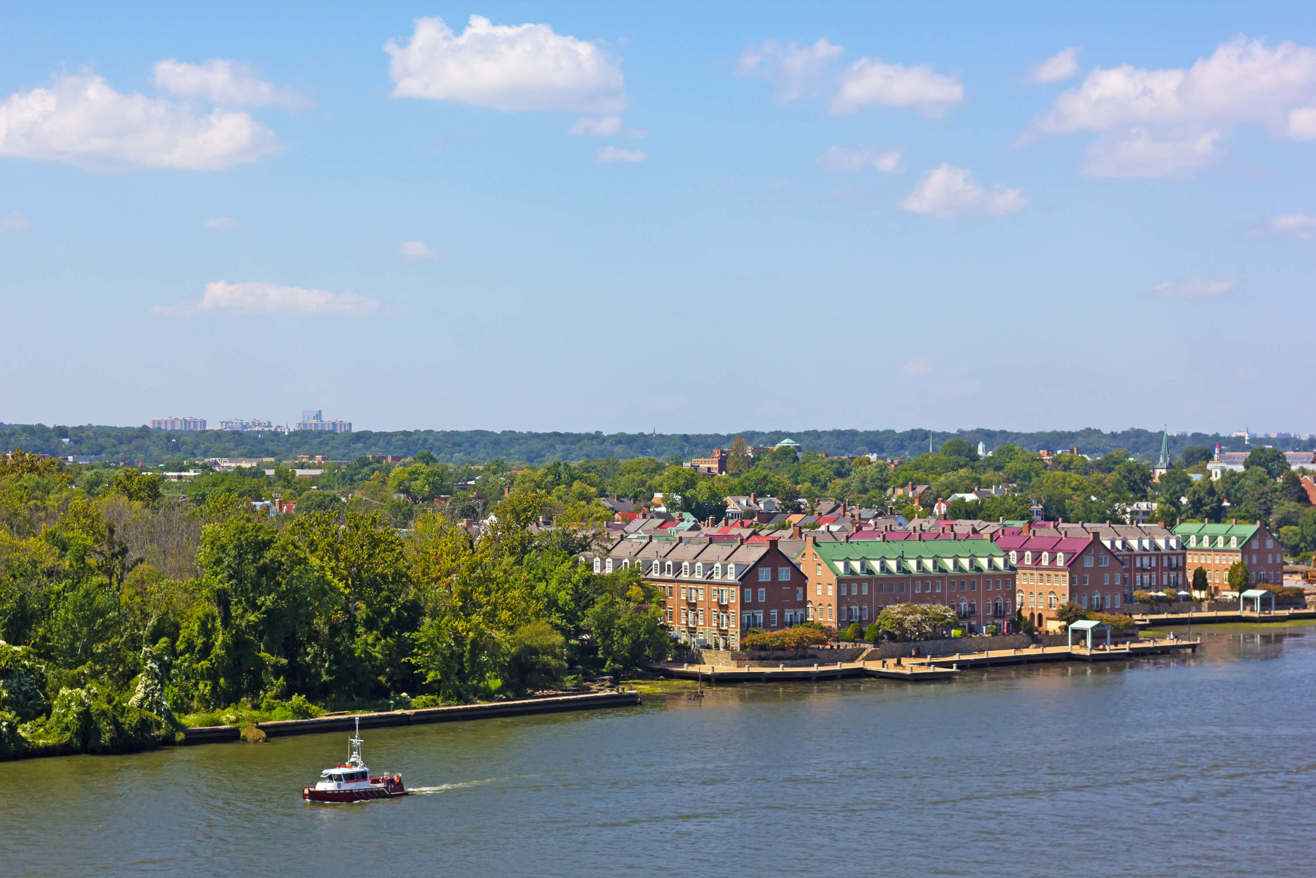 view of Alexandria VA from river